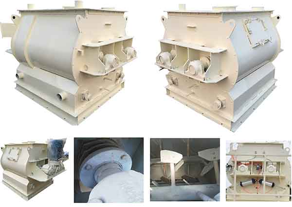 double shaft paddle mortar mixer